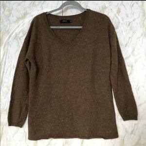 Aritzia Talula large brown sweater cashmere wool